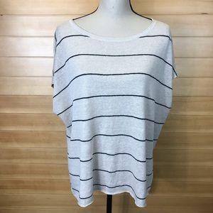Eileen Fisher Organic Linen Striped Oversized Top
